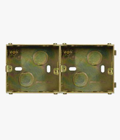 Jung UK metal back box, double