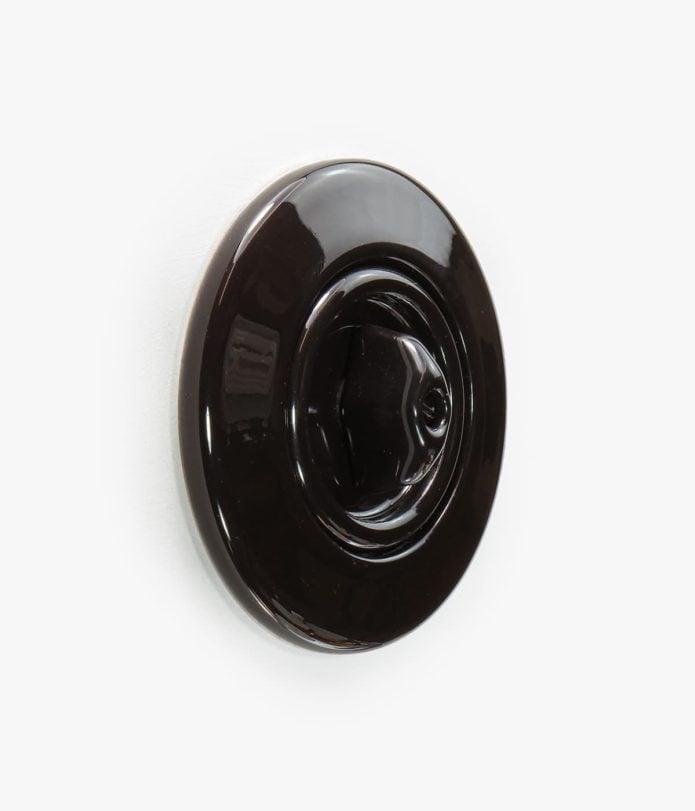Berker Serie 1930 Rosenthal porcelain black light switch