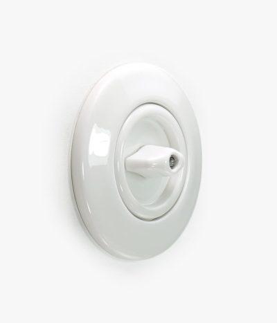 Berker Serie 1930 Rosenthal white rotary light switch