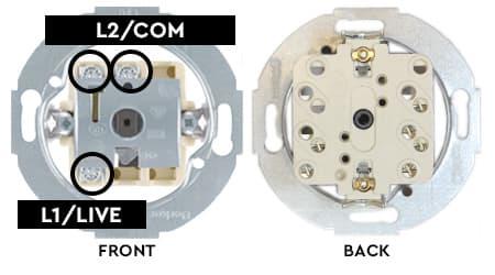 Berker rotary switch wiring points