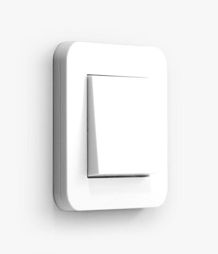 GIRA E3 White rocker light switch