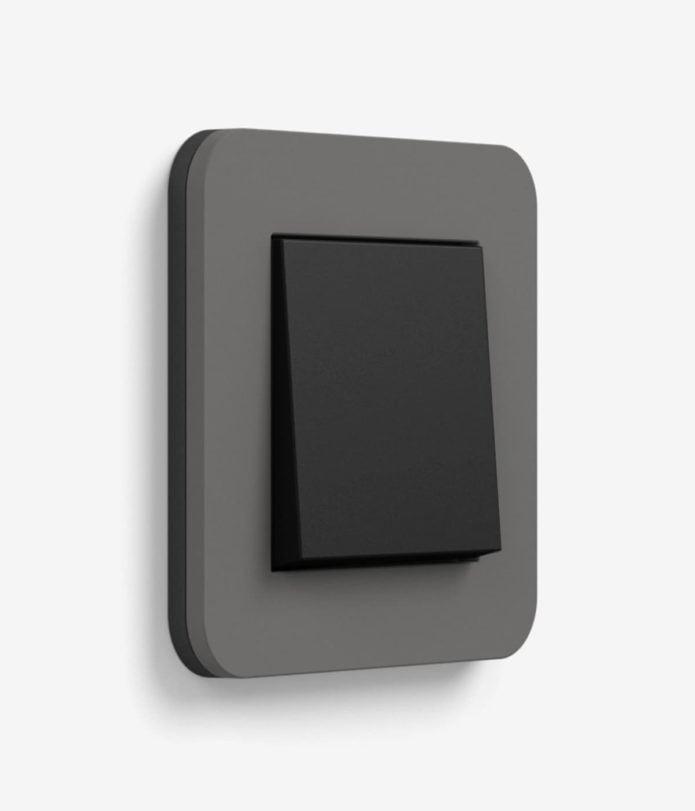GIRA E3 Dark Grey/Black switch