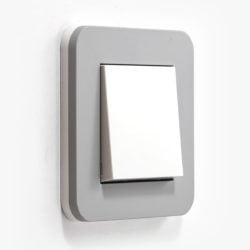 GIRA E3 Stone mid grey light switch