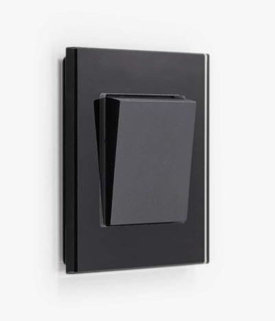 GIRA Esprit Black Glass light switch