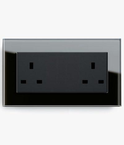GIRA Esprit Black Glass plug socket
