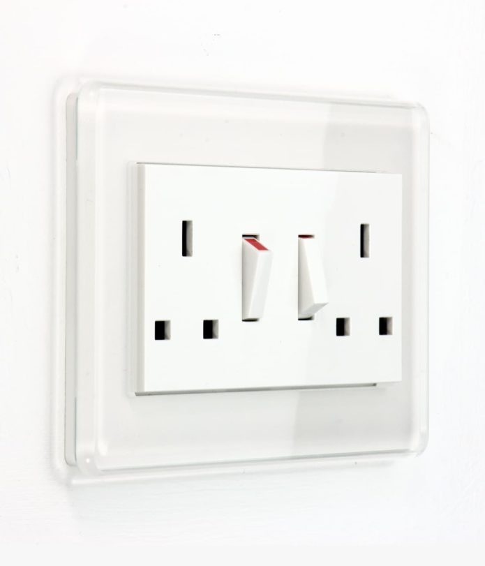 Esprit White Glass Sockets