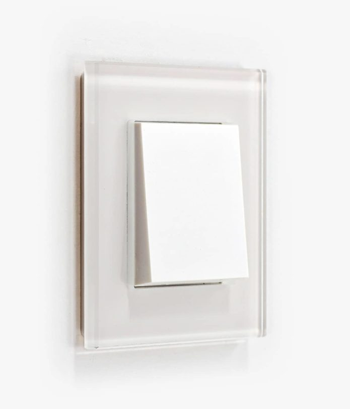 GIRA Esprit White Glass light switch