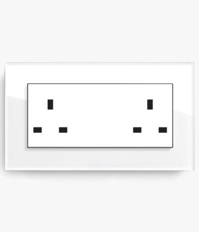GIRA Esprit White Glass plug socket