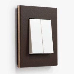 GIRA Esprit light switch in linoleum plywood anthracite