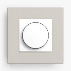 Gira Esprit Linoleum Plywood Light Grey Dimmer