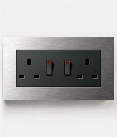 GIRA Esprit Stainless Steel Double Socket