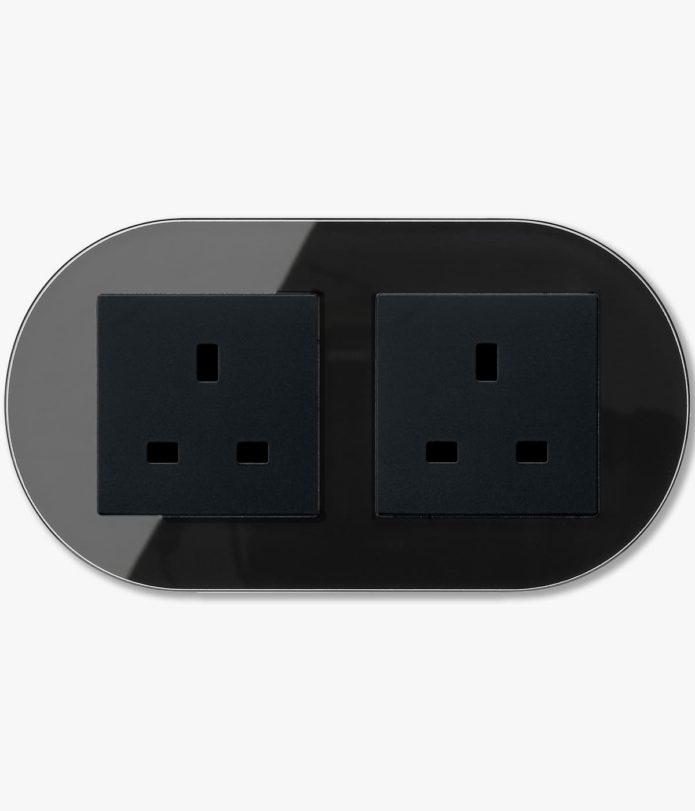 GIRA Studio Black double power socket