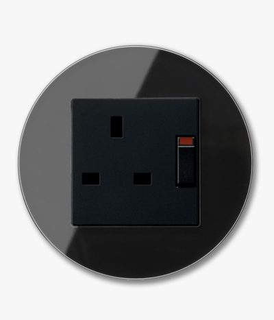 GIRA Studio Black single power socket