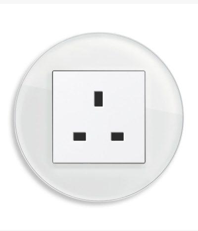 GIRA Studio White Glass single socket