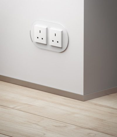 GIRA Studio White Glass double socket