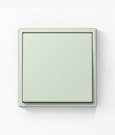 Jung Les Couleurs de Le Corbusier 32042 green light switch