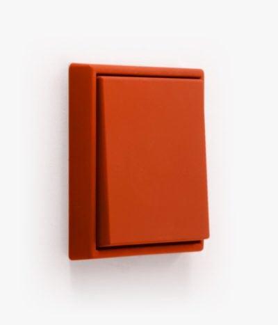 Jung Les Couleurs light switch in rouge vermillon