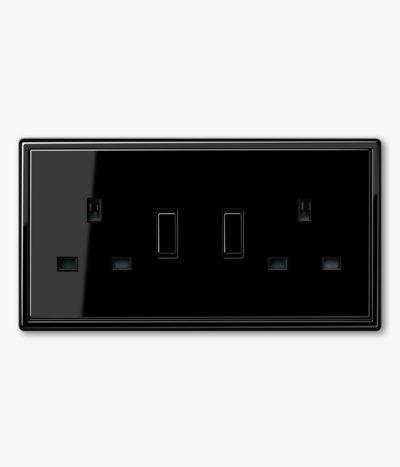 JUNG LS990 Black double socket