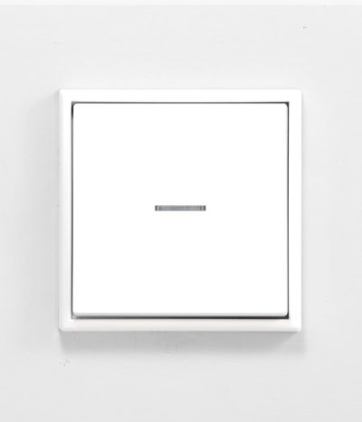 Jung LS990 White isolator switch with light