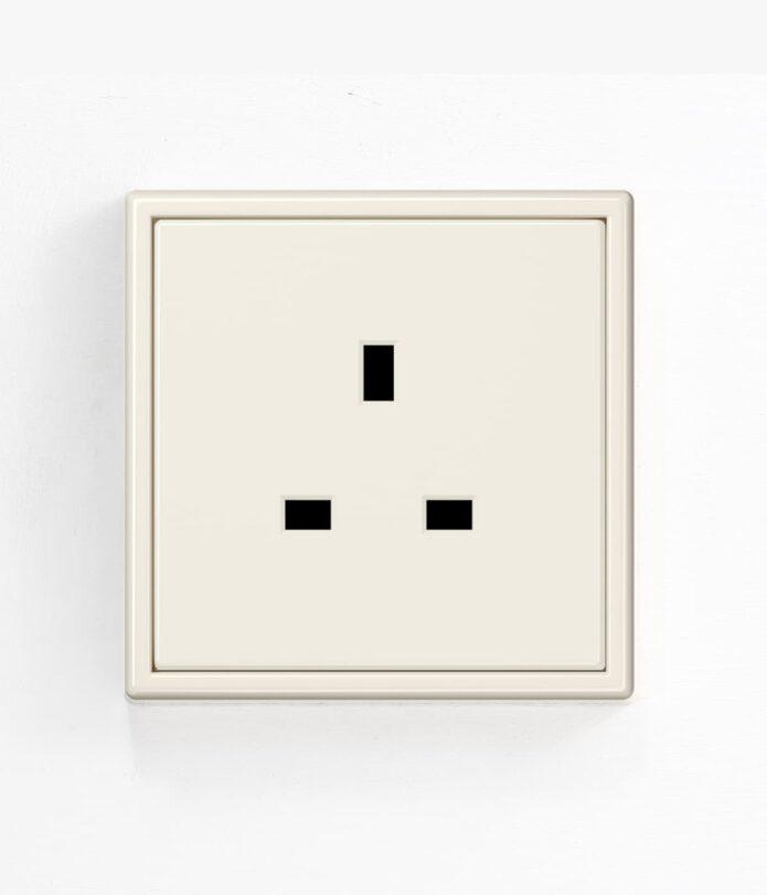 Jung LS9990 Cream single plug socket