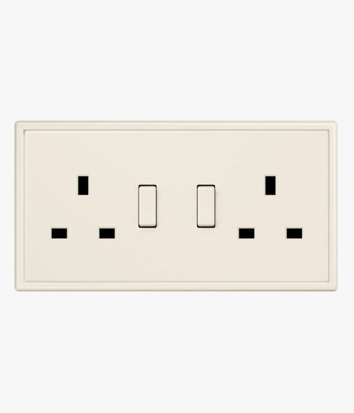Jung LS9990 Cream double plug socket