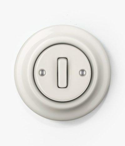 Katy Paty Roo Alba white porcelain light switch