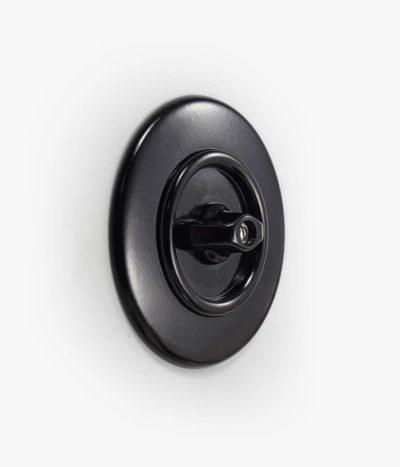 THPG Bakelite rotary light switch, round