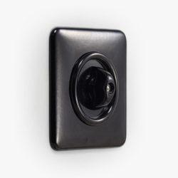 THPG Bakelite rotary light switch, square