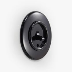 THPG Bakelite toggle light switch, round
