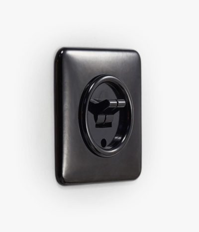 THPG Bakelite double toggle light switch, square