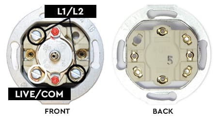 THPG rotary switch wiring points